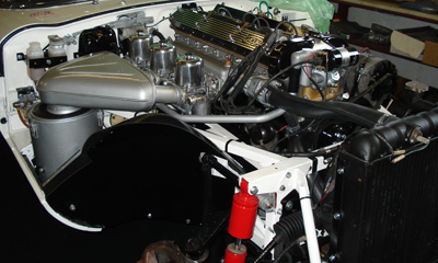 Aston Martin specialists who have the expertise to restore all classic vehicles. This is a Jaguar E Type engine bay restoration